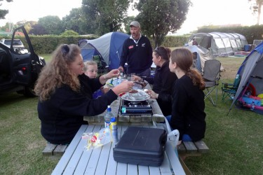 Summer - Family BBQ at the camp ground