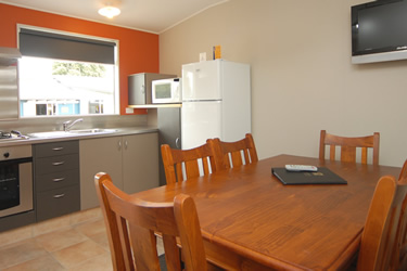 Take a virtual tour through one of our kitchen cabins.